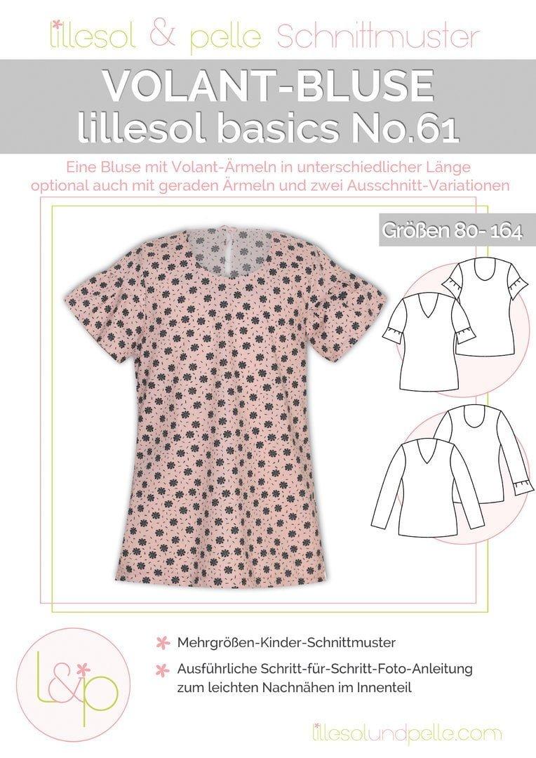 a7c9abbbb35f9b Schnittmuster Lillesol und Pelle basics No.61 Volant-Bluse ...