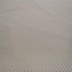 BaumwolleMini Dots grau auf Ecru