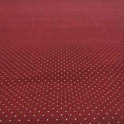 Baumwolle Mini Dots Ecru auf Rot