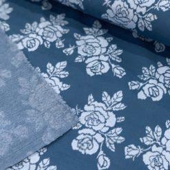 Sommer Jacquard Roses auf Blue