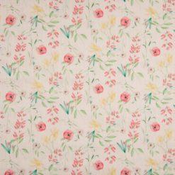 Cotton Little Fleur Stripe auf Rose