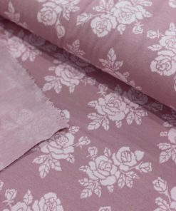 Sommer Jacquard Rose auf Old Rose