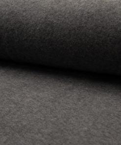 Baumwolle Fleece dunkel Grau