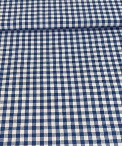 Baumwolle Kölsch Karo Blau Weiss