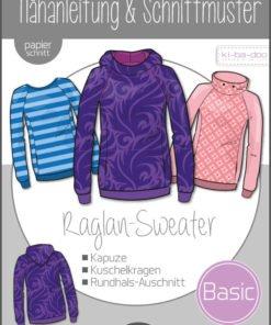 Schnittmuster Kibadoo Basic Raglan Sweater Kinder Stoffstübli