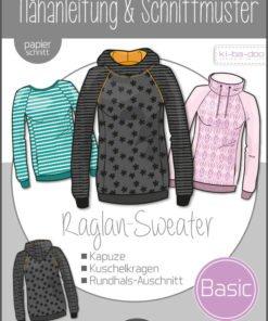Schnittmuster Kibadoo Basic Raglan Sweater Damen Stoffstübli