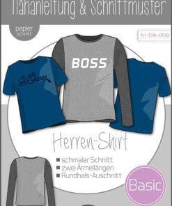 Schnittmuster Kibadoo Basic Shirt Herren Stoffstübli