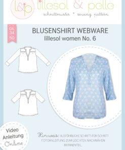 Papierschnittmuster lillesol women No.6 Blusenshirt Webware Stoffstübli