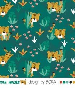 Jersey Lillestoff Cheetah Jungle Stoffstübli