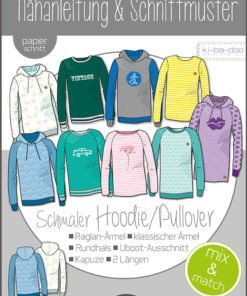 Schnittmuster Kibadoo Mix&Match Sweater/ Hoodie Kinder Stoffstübli