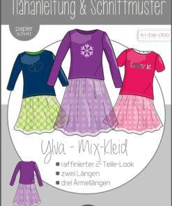 Papierschnittmuster Kibadoo Ylva Mix-Kleid Kinder Stoffstübli