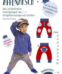 Schnittmuster Anninanni Affenarsch Baby- und Kleinkinderhose Stoffstübli