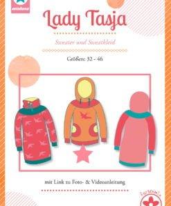 Schnittmuster Mialuna Lady Tasja Hoodie und Kleid für Damen Stoffstübli