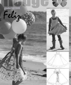 Schnittmuster Farbenmix Felix Festkleid/ Sommerkleid Stoffstübli