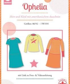 Schnittmuster Mialuna Ophelia Kindershirt und kleid Stoffstübli