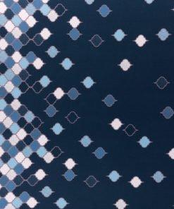 Viskosejersey Lycklig Design in love with tiles blau Stoffstübli
