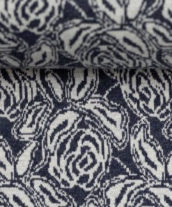 Jacquard Jersey Madita floral dunkelblau Stoffstübli