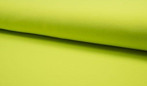 French Terry/ Sommersweat Uni neon gelb Stoffstübli