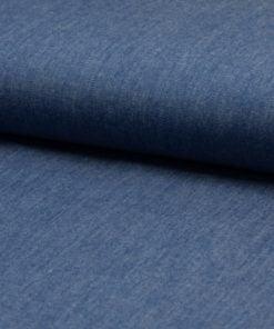 Chambrai Uni washed blue Stoffstübli