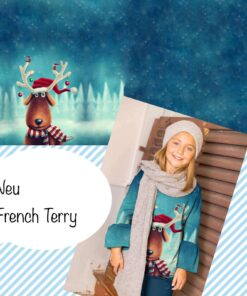 French Terry Weihnachtselch Stoffstübi